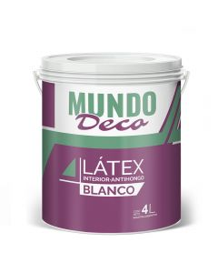Pintura Para Interior Latex Blanco Mundo Deco 4 L