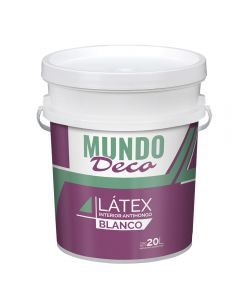 Pintura Para Interior Latex Blanco Mundo Deco 20 L