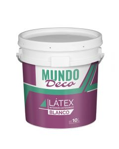 Pintura Para Interior Latex Blanco Mundo Deco 10 L